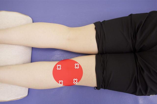 膝の裏側の筋肉